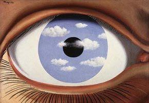 Magritte : faux miroir