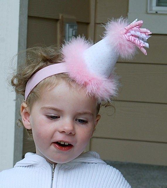boutique ITTY bitty PINK pola DOT birthday headband bow by andJane