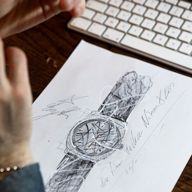 The french designer and inspired skateboarder @eugenericonneaus working on the #timeteller. Picture by @pierredavid