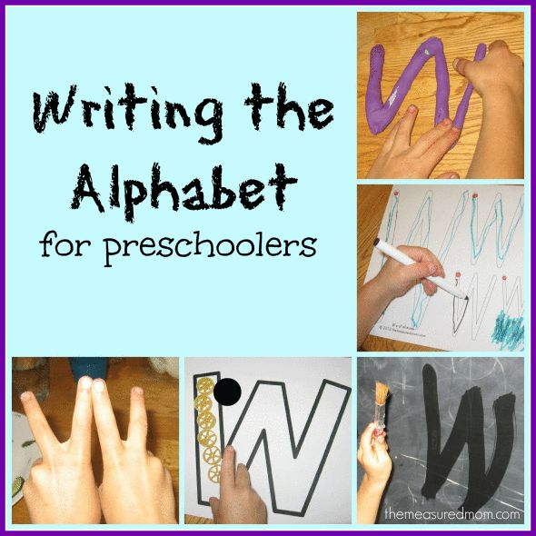 Writing the Alphabet for Preschoolers: the letter W - The Measured Mom