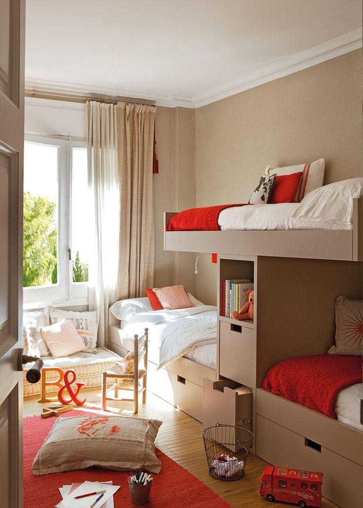 Las 25 mejores ideas sobre organizar las habitaciones de - Ideas decoracion habitacion ninos ...