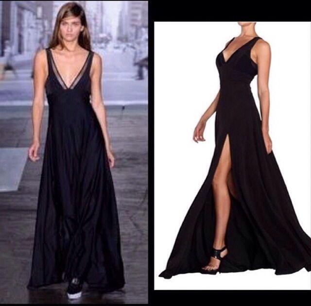 Шикарное платье Elie Saab! Классический черный и вырез-изюминка по ноге!
