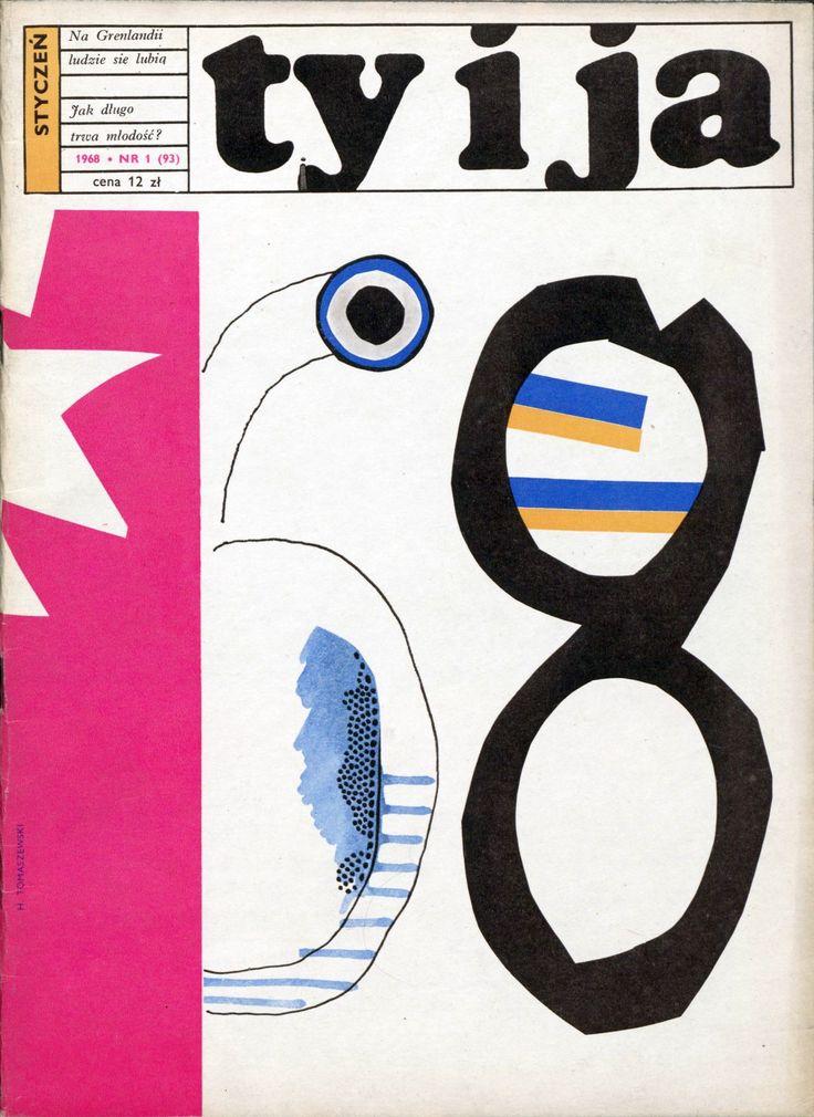 """""""Ty i Ja"""" magazine, 01.1968, cover by Henryk Tomaszewski"""