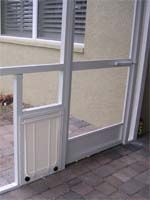 All KINDS of various dog door configurations and installations
