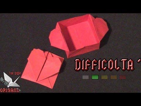 Origami, tutorial scatola a forma di cuore per la festa della mamma - heart box Mother's Day - YouTube