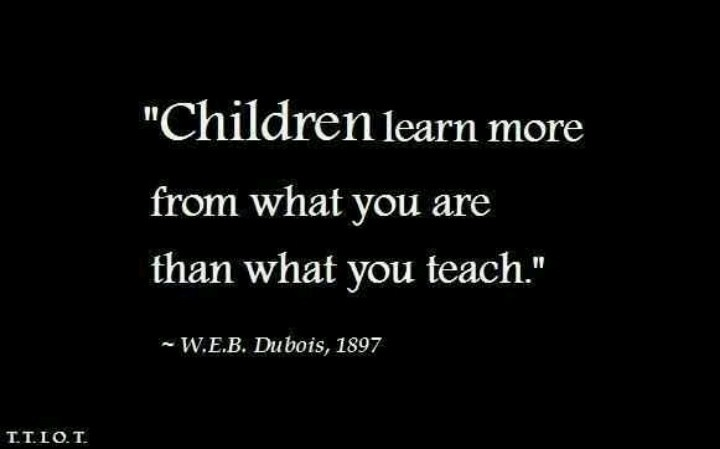 W.E.B. Dubois quote on children learning