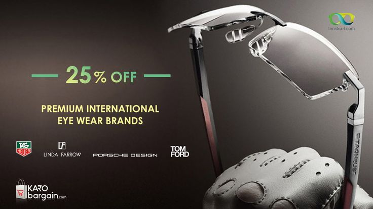 International Eyewear Brands Upto 25% Off #KaroBargain  #TagHeuer #tomford #WednesdayWisdom  https://www.karobargain.com/stores/lenskart/238054