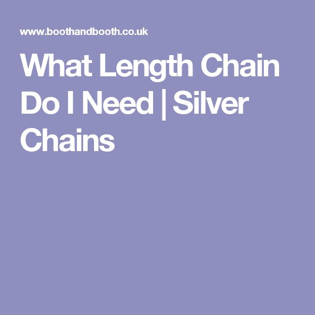 What Length Chain Do I Need | Silver Chains