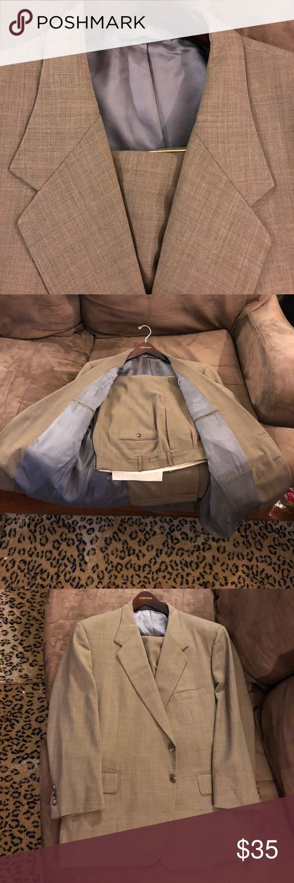 Tom James Light Olive Green Suit 44S Short Tom James Solid Light Olive Green Suit size 44S Short, 2 Button and single vented! Pants are size 39x27, Pleated and cuffed! Great condition! Please make reasonable offers and bundle! Ask questions! :) Tom James Suits & Blazers Suits