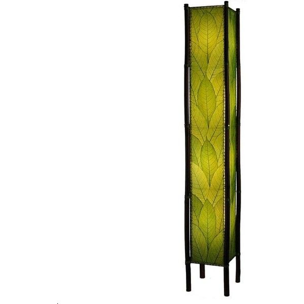 Green Fortune Giant Floor Lamp (Phillipines) ($438) ❤ liked on Polyvore featuring home, lighting, floor lamps, green lights, green floor lamp and green lamp