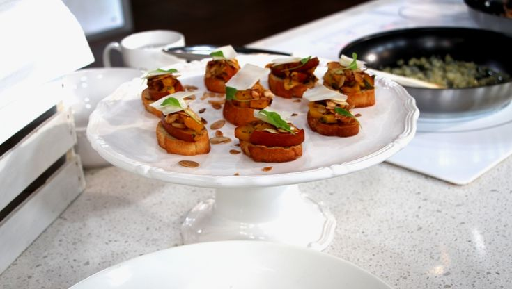 Roasted Squash and Pumpkin Bruschetta - elle cuisine on Cityline with Tracy Moore