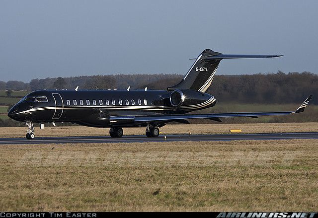 Black Private Jet  Picture Of The Bombardier BD7001A10 Global Express Airc