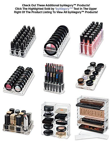 Acrylic Lipstick Organiser & Beauty Care Holder Provides 24 Space Storage | byAlegory (Clear): Amazon.es: Belleza