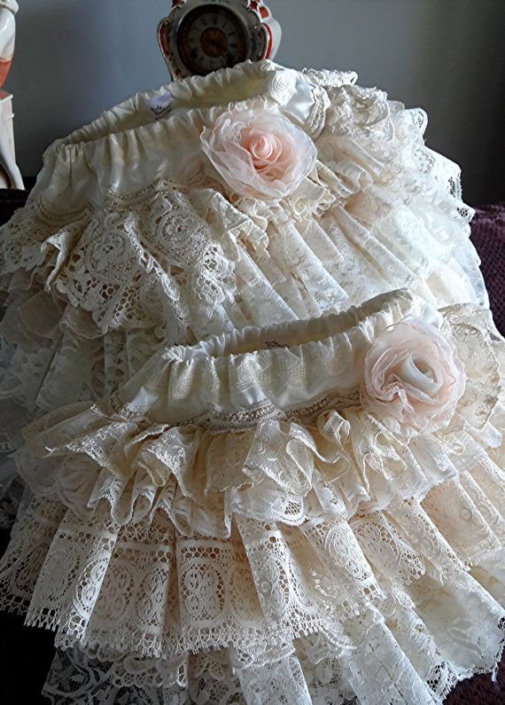 Wedding custom vintage lace flower girl skirts by by Babybonbons, $65.00