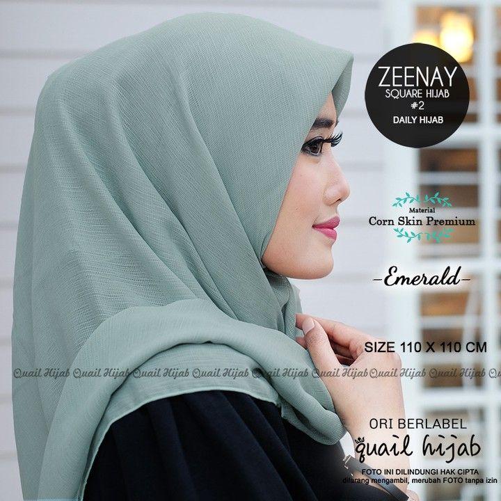 Zeenay 2 Emerald By Quail Hijab Bahan Corn Skin Premium Harga 58rb Cantikkan Harimu Dengan Produk Original Dari Quail Hijab Mau H Hijab Kecantikan Produk