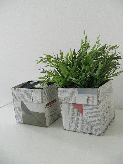 DIY origami : panier en papier journal (à essayer pour transporter les plantes du jardin lors d'un demenagement )