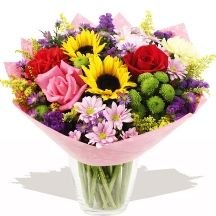 Message Hand-tied Sunflowers #flowers