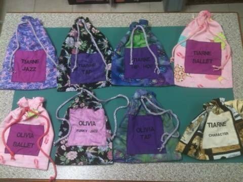 Dance shoe bags