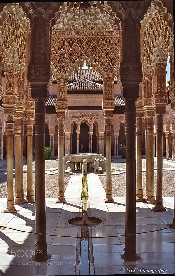 Popular on 500px : Court of the Lions Alhambra Granada Spain by olafchristen1