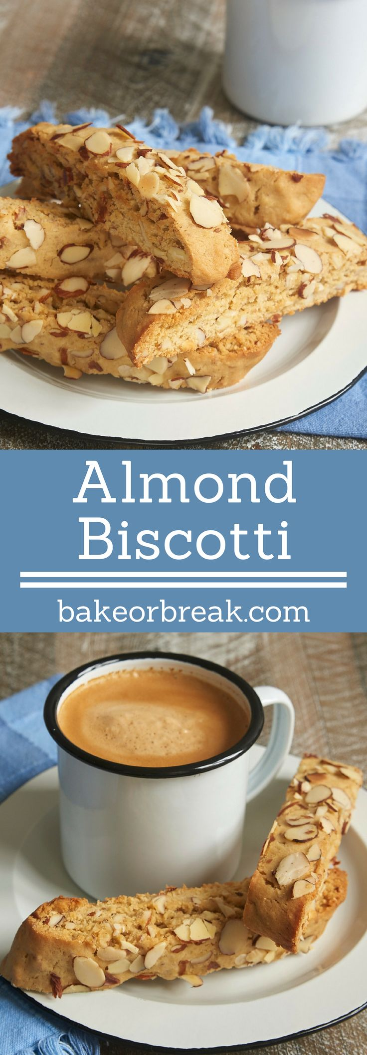 Almond Biscotti are packed with plenty of brown sugar and almonds. Such a great companion for your coffee or tea! - Bake or Break ~ http://www.bakeorbreak.com