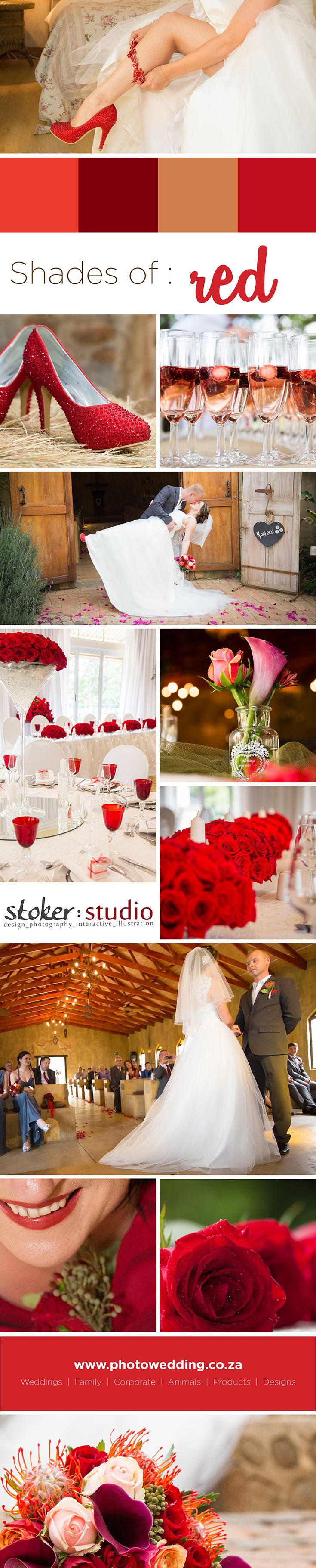 Red represents ENERGY, ACTION, DESIRE & PASSION ! Perfect pallet for those passionate wedding vibes :-)