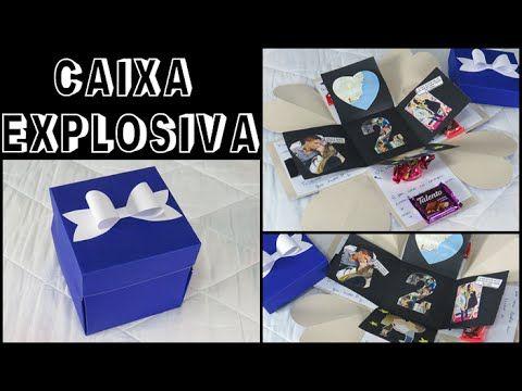 Presente criativo para o namorado | Caixa explosiva - YouTube