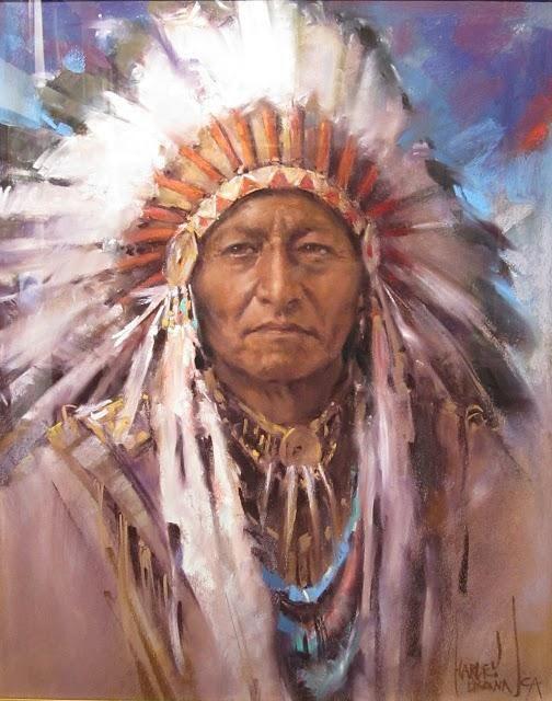 images of native american art   Presento algunos dibujos de Harley Brown, realizados con pastel, con ...