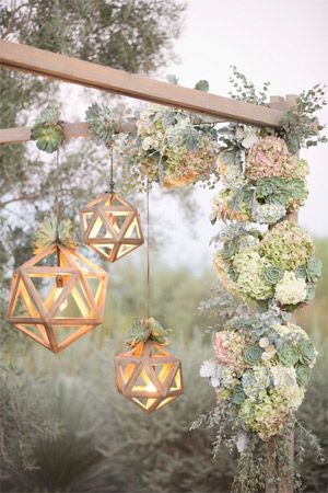 wedding arch decorated with succulent plants - brides of adelaide