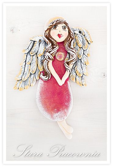 Aniołki z masy solnej, Aniołek z masy solnej, anioły z masy solnej, anioł z masy solnej, masa solna, salt dough angels, salt dough, salt dough cratf www.masa-solna.pl www.starapracownia.blogspot.com