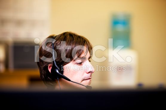Cubicle worker royalty-free stock photo