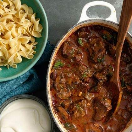 Serve with: egg noodles, reduced-fat sour cream. Double the recipe and freeze half for last-minute leftovers.