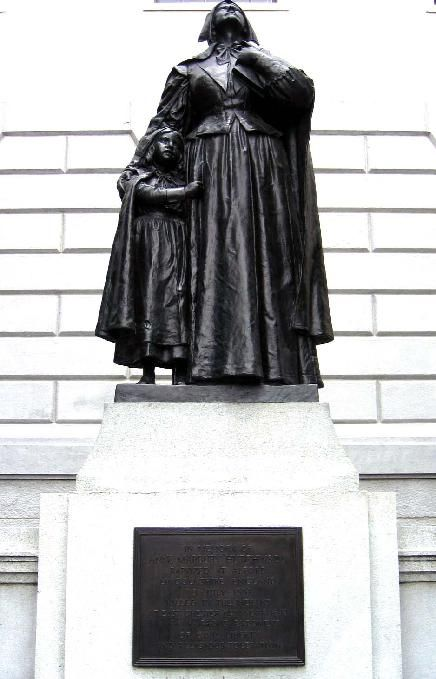 best anne hutchinson ideas massachusetts bay bronze statue by cyrus dallin of anne hutchinson and a young girl believed to be her
