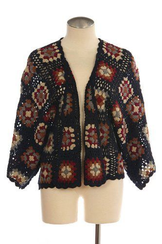 G2 Chic Patchwork Crochet Sweater Cardigan(CLT-SWT,DBL-M) G2 Chic. $28.88. Save 71% Off!