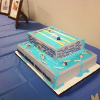 Swim banquet cake :)