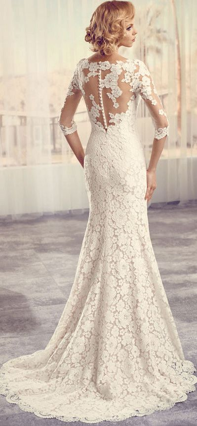 $141.19-Vintage Style Scoop Long-Sleeve Lace Wedding Dress with Sleeves and Slit. http://www.ucenterdress.com/floor-length-scoop-split-front-long-sleeve-lace-wedding-dress-pMK_705772.html. Free Custom-made & Free Shipping! Shop lace wedding dress, strapless wedding dress, backless wedding dress, with sleeves, mermaid wedding dress, plus size wedding dress, We have great 2016 best Wedding Dresses on sale at #UcenterDress.com today! #wedding #dress
