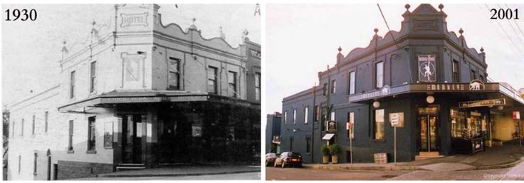 Cricketers Arms Hotel, Darling and Ford Streets Balmain 1930>2001. [Gdaypubs, by Brendan Brain]