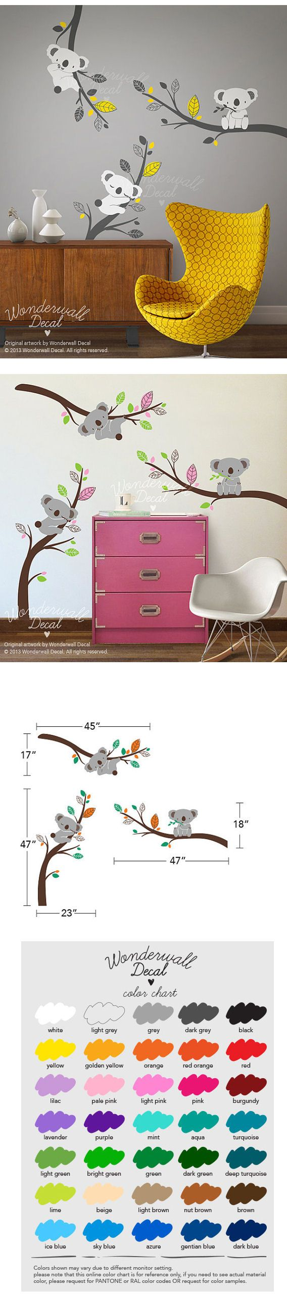 All colors customizable. $88. http://www.wallstickeroutlet.com/wall-decor-detail.php?RecordID=540932