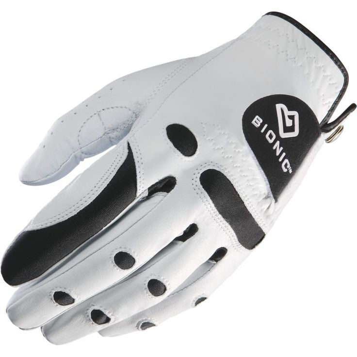 Bionic Men's StableGrip Golf Glove, White