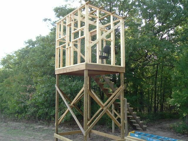 Elevated Hunting Stand Plans Homemade Hunting Blinds