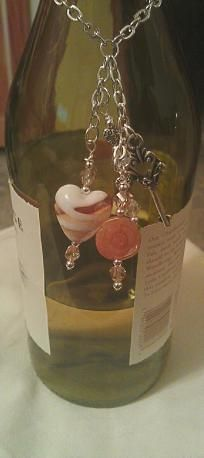 Key to My Heart Wine Bottle Charm  SOLD