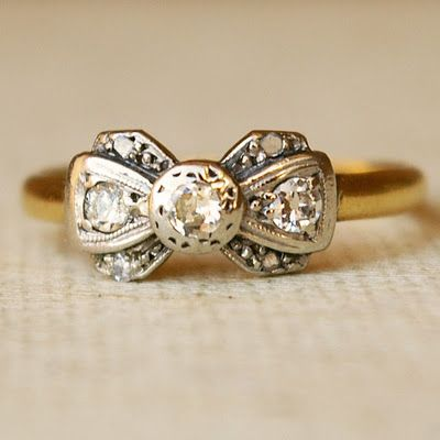 Bow wedding ring.