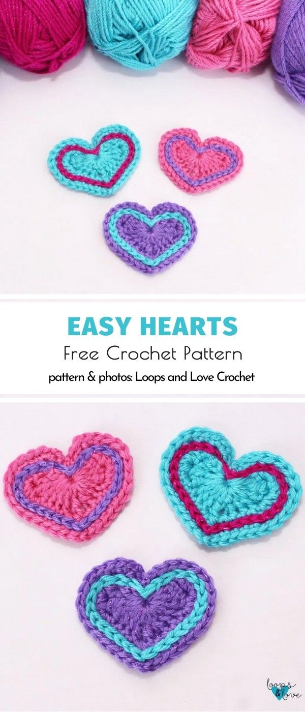Crochet Hearts Ideas And Patterns In 2020 With Images Crochet