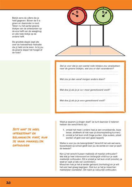 Motivatie probleem. Pagina uit het werkboek Ik leer leren. http://ikleerleren.nl/werkboek-bestellen