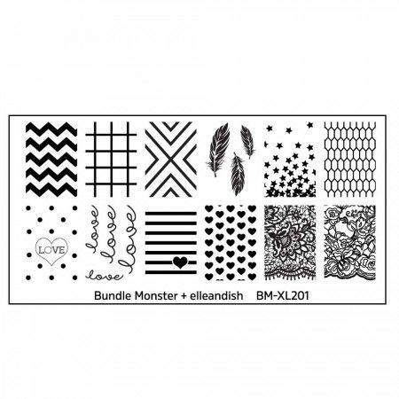 Blogger Collaboration Nail Art Polish Stamping Plates - BM-XL201, elleandish