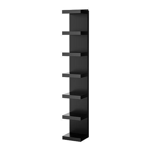 49,90€ IKEA - LACK, Étagère, noir, , Une bibliothèque étroite permet d'utiliser au mieux l'espace au mur, même sur de petites surfaces.Vous avez le choix entre l'adosser contre un mur ou le suspendre à la verticale ou à l'horizontale.