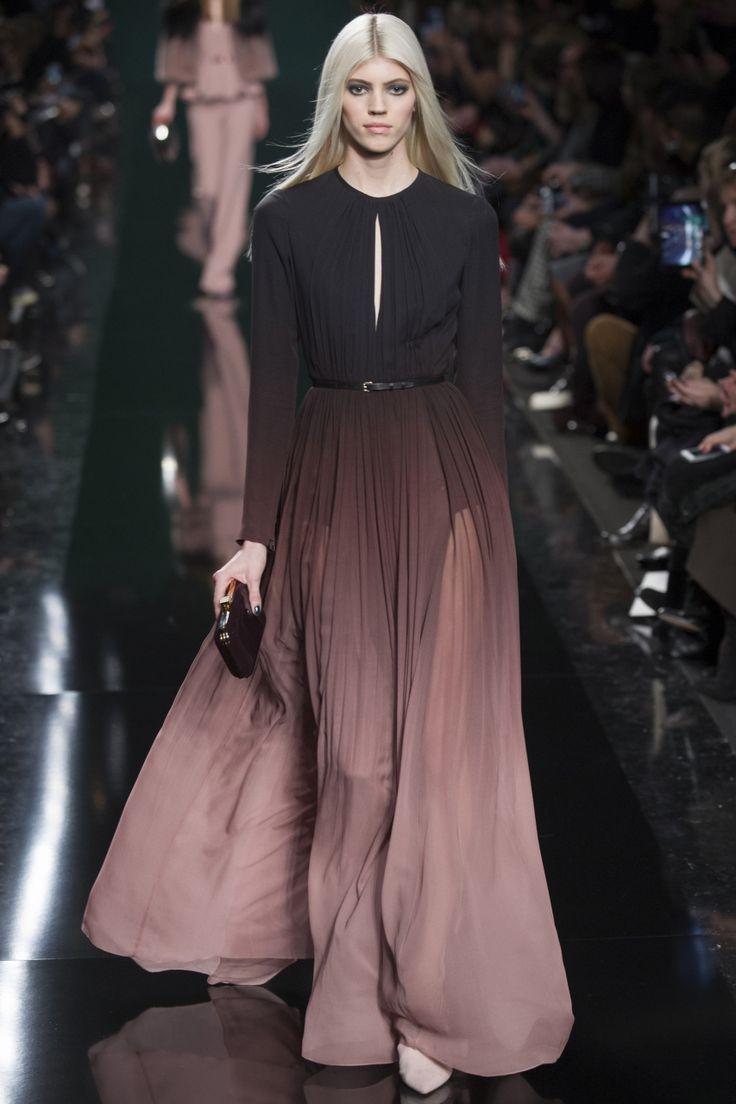 Шифоновое платье с эффектом обмре Elie Saab