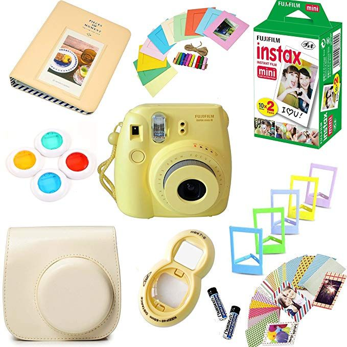 Amazon Com Fujifilm Instax Mini 8 Film Camera Yellow Instax
