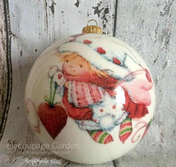 Christmas Elf Bauble, Cute Christmas Ornament, Winter Fairy Tale ornament by DecorativeGarden on Etsy