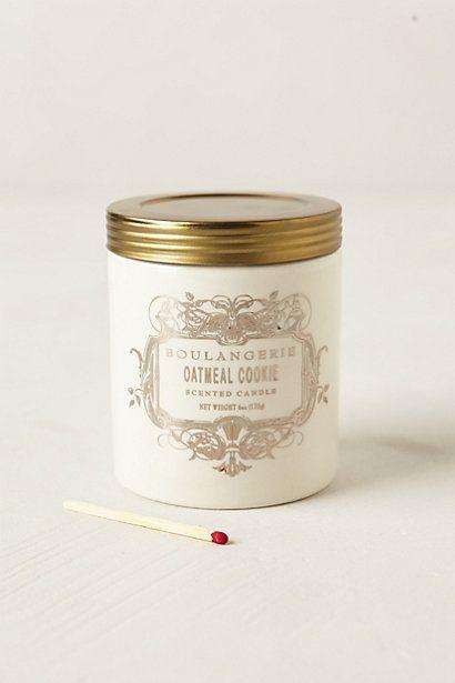Boulangerie Jar #anthropologie Pumpkin Soufle, Oatmeal Cookie, & Angel Food. I always love food scented candles