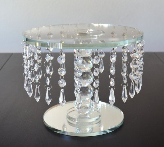 CRYSTAL CAKE STAND. Round Crystal Cake Stand. by KimeeKouture